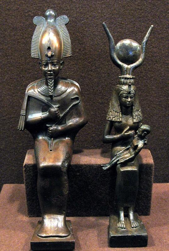 Osiris et Isis allaitant le pharaon Horus, musée de l'Hermitage