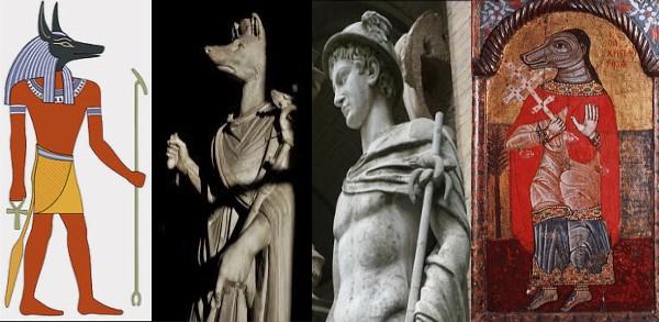Anubis. Hermanuobis, Mercure et St Christophe gardiens des « portes invisibles » de la guérison